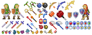 A Link Between Worlds: Pixelized Items by allaboutnothing
