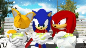 MMD: Team Sonic Together on a Cold Winter's Day by Trouble-san