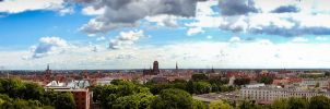 Panorama of Gdansk by Ajumska