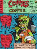 Corpses and Coffee colored by lagatowolfwood