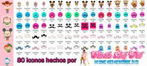 Iconos moustache by TutosLadyPink
