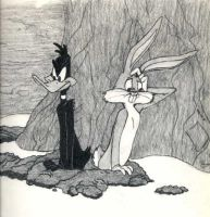 Bugs and Daffy by seir