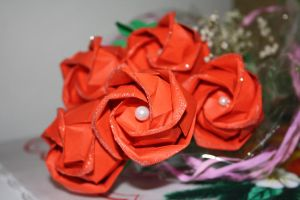 Kawasaki Rose bouquet for my grandma 2 by Kusu-dama