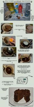 How to make a 5min mug brownie by howtomake