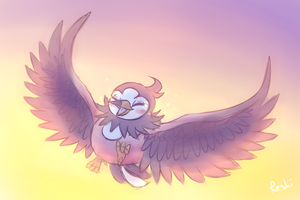 Starly - Wings of freedom by Reshidove