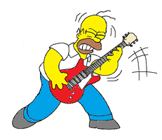 homer's guitar by cittykat21