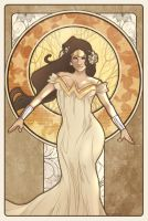 Wonder woman-Mucha Style by PYdiyudie