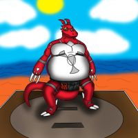 Bulky Guilmon by DragonFeeder