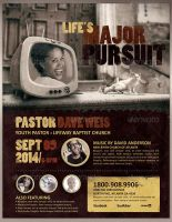 Life's Major Pursuit Church Flyer Template by loswl