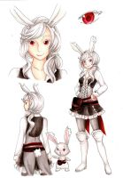 White Buneary Gijinka - Rose by RoCkBaT