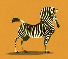 Zebra by Canvascope