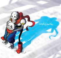 Undertale Skelebrosunstoppable by jameson9101322