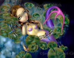 Dragonfly Mermaid by jasminetoad