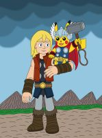 Thor and his Pikachu by MCsaurus
