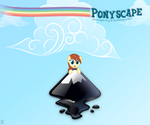 Ponyscape About Screen (with fancy clouds) by LeonTheOriginal