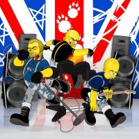 Skinhead Rockband by SimpsonsCameos