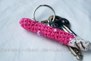 Strawberry Crisp Keychain by romanletters