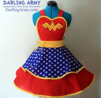 Wonder Woman Cosplay Pinafore by DarlingArmy