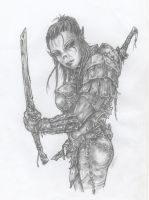 Female Orc by DarkWaterArt