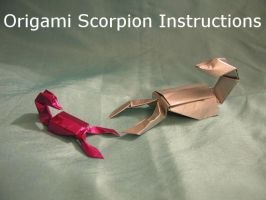 Simple Origami Scorpion Instr. by DonyaQuick