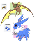 PokeFusion:: Kangasbat and Dragoneon by CookieHana