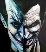 The Joker oil paint by Dwros89