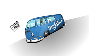 VW Camper - Surfer Van by ROL4NDesignStudio