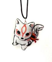 Okami Den Necklace by Ideationox