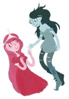 Marceline and PB by karla-karla