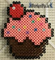 Cupcake With Sprinkles by PerlerPixie
