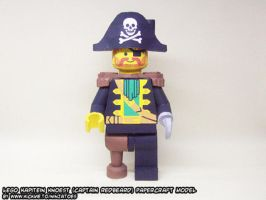 papercraft LEGO pirate Knoest by ninjatoespapercraft