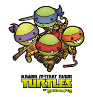 Kawaii Mutant Ninja Turtles by SquidPig