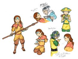 :TaangAU: Aang Sketches Color by Kimbawest