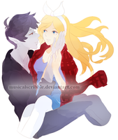 Fionna and Marshall by musicalscribble