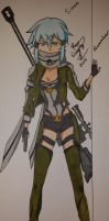 Sinon - Sword Art Online 2 by Miniomegaxis