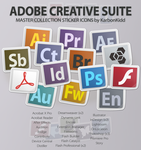 Adobe CS5.5 Creative Suite: Sticker Icons by KarbonKidd