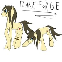 new OC: FlareForge by dragonsponies