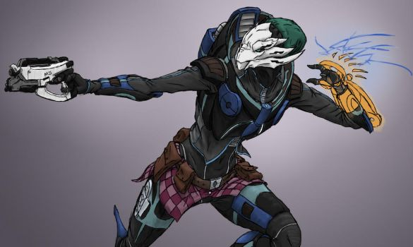 Mass Effect - Siva in Action by Faullyn