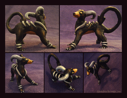 Houndoom Clay Figurine by IceandSnow