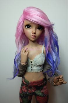 Pink and Purple wig by MindlessGoo