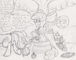Apple Bloom's Alchemical Adventure by DarkKnightHoof