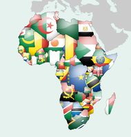 Africa Flag Map by lg-studio