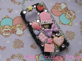 Sweet Decoden Rhinestone Phone Case by Frainy