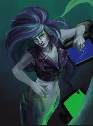 CyberPunkMermaid1 by To-Ka-Ro