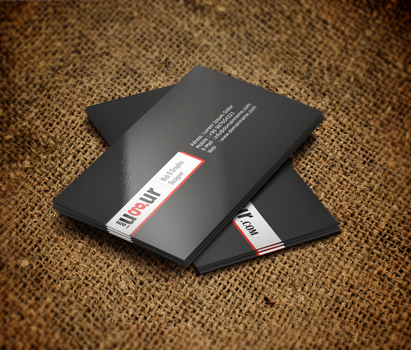 Black-White-Red Business Card by Mottcalem