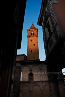 Cathedral bell tower in sunset light by SilvieTepes