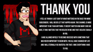 Markiplier's Thank You Message~ by PrincessDevin302