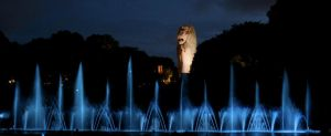 Cool Night Life for Merlion by jasaholic