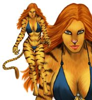 Tigra by Selkirk by carol-colors