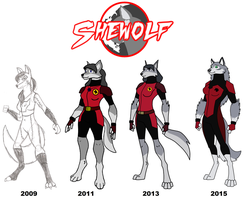 The Evolution of SheWolf by HewyToonmore